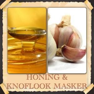 honing knoflook masker